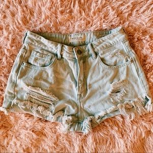 Pacsun Highrise Jean Shorts